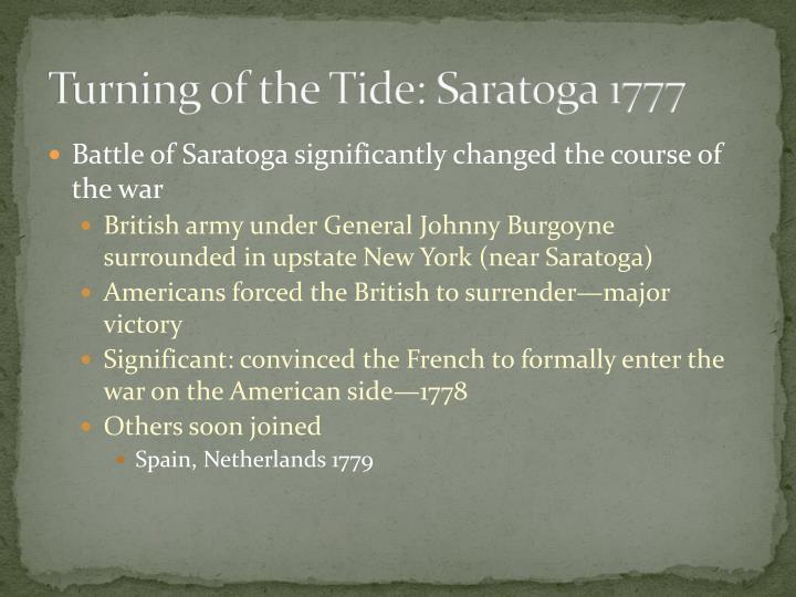 Turning of the Tide: Saratoga 1777