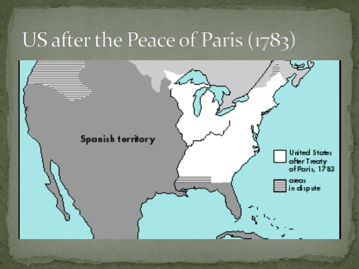 US after the Peace of Paris (1783)