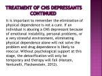 treatment of cns depressants continued1