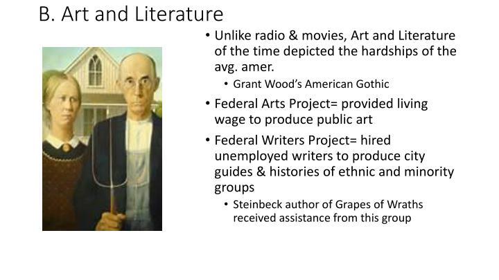 B. Art and Literature