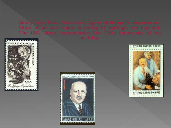 Stamps from USA, Greece and Cyprus of