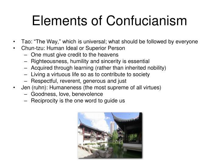 Elements of Confucianism