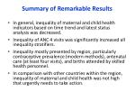summary of remarkable results