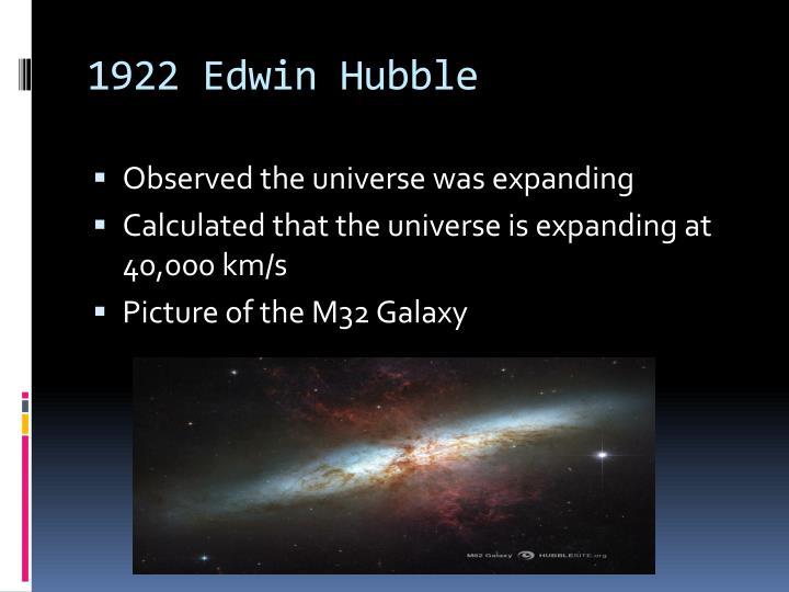 1922 Edwin Hubble
