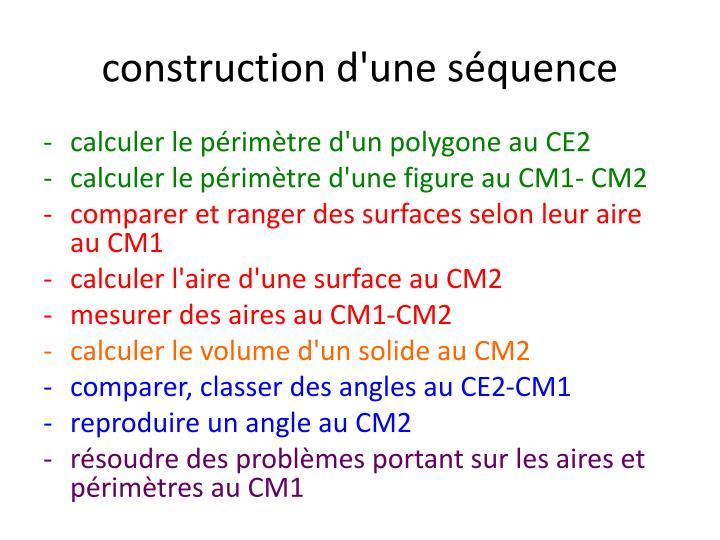 construction d'une séquence