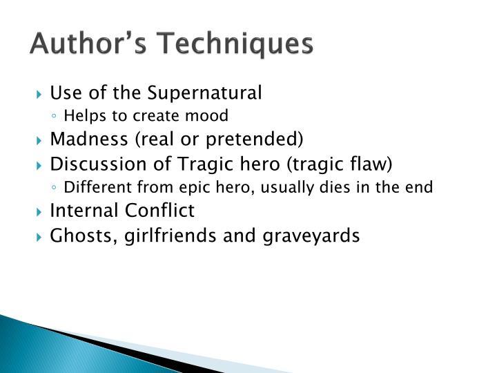 Author's Techniques