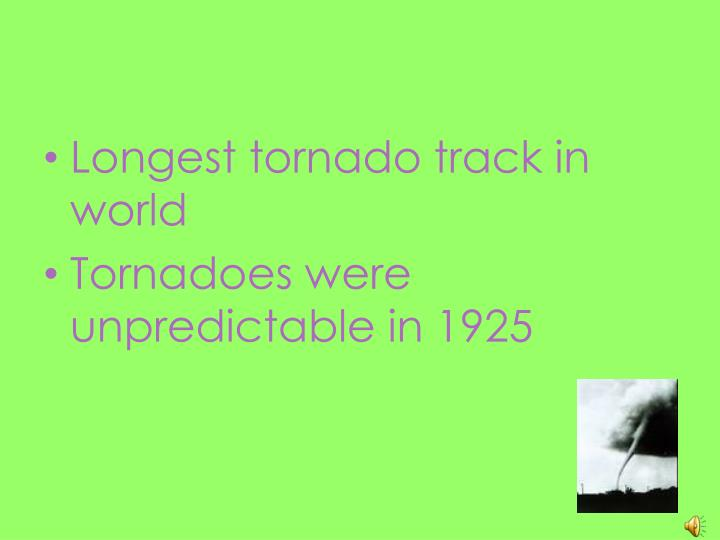 Longest tornado track in world