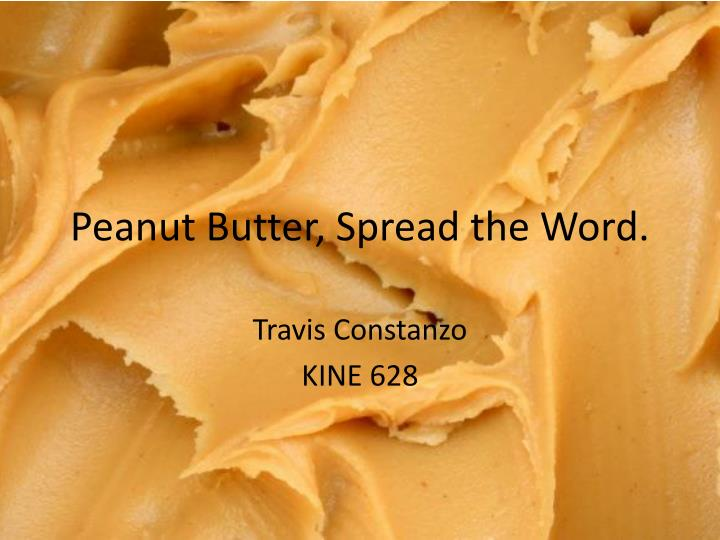 peanut butter spread the word n.