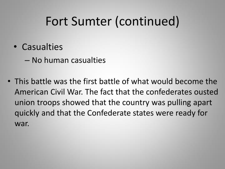 Fort Sumter (continued)