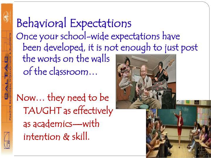 Behavioral Expectations