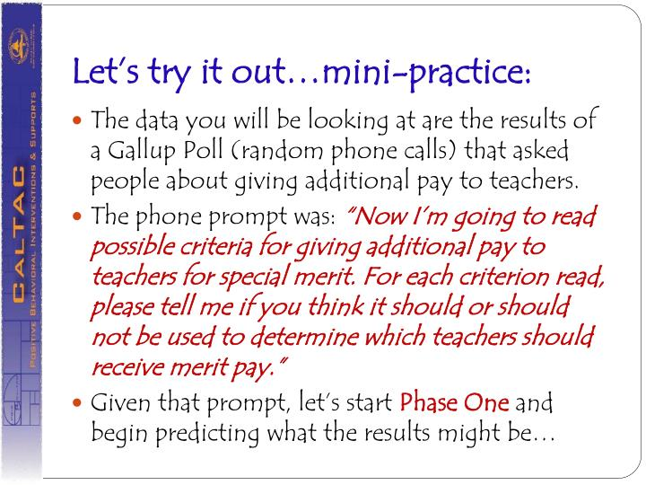 Let's try it out…mini-practice: