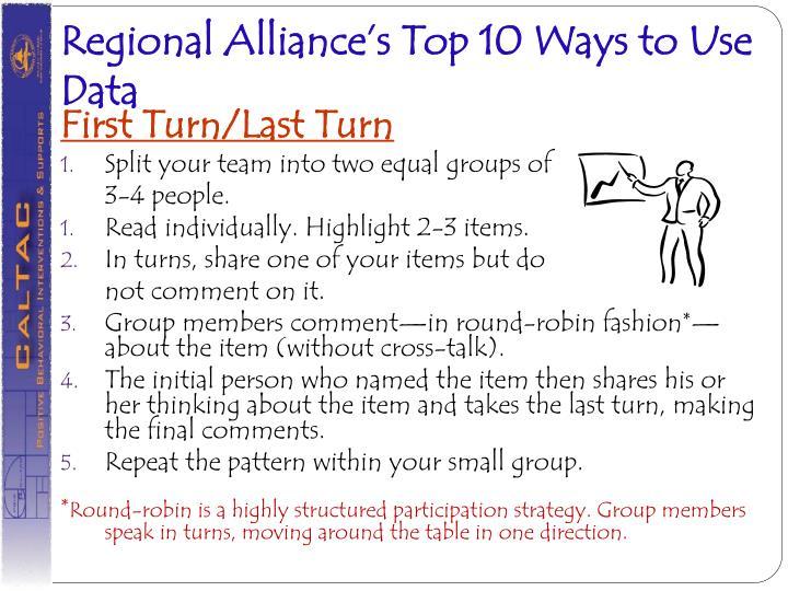 Regional Alliance's Top 10