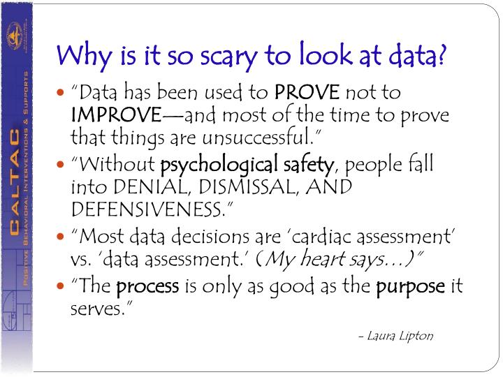 Why is it so scary to look at data?