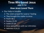 three who loved jesus john 11 1 42
