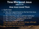 three who loved jesus john 11 1 43