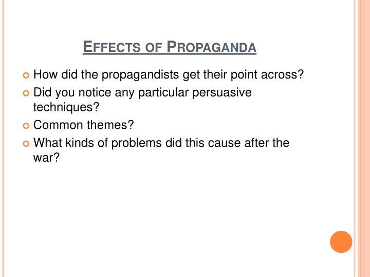 Effects of Propaganda