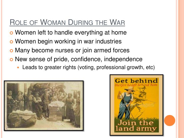 Role of Woman During the War