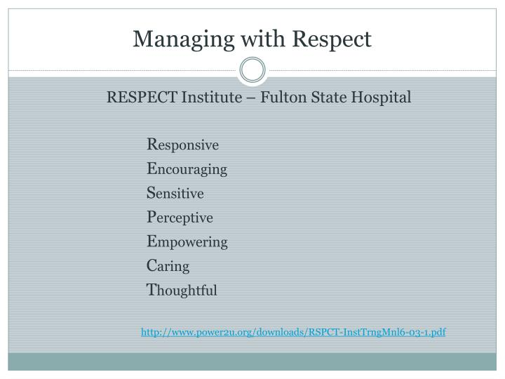 Managing with Respect