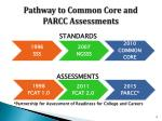 pathway to common core and parcc assessments
