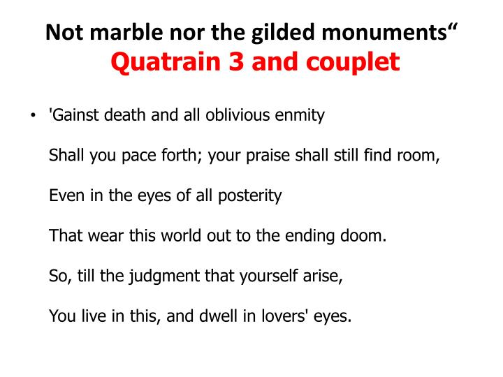 Ppt Quot Not Marble Nor The Gilded Monuments Sonnet 55