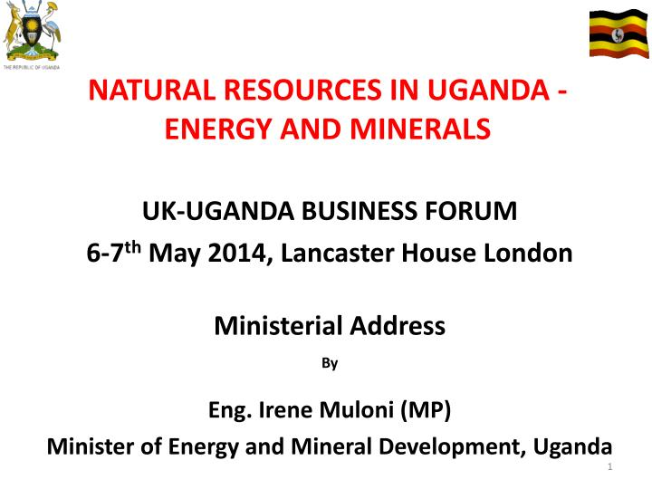 natural resources in uganda energy and minerals n.