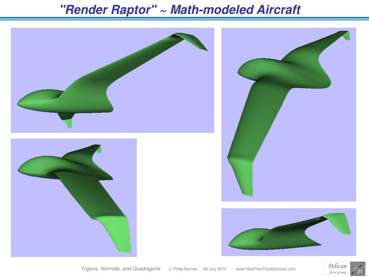 """Render Raptor"" ~ Math-modeled Aircraft"