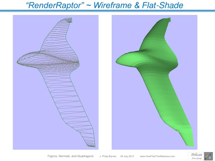 """RenderRaptor"" ~ Wireframe & Flat-Shade"