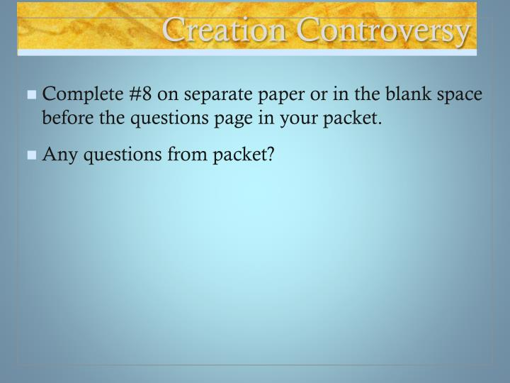 Creation controversy
