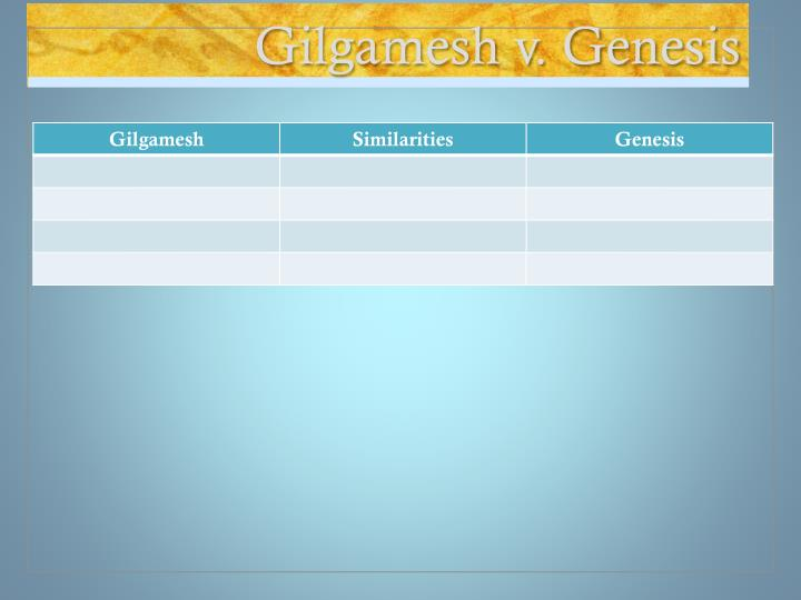 Gilgamesh v. Genesis