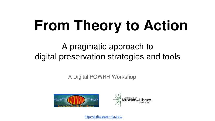 from theory to action n.
