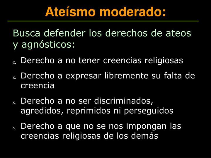 Ateísmo moderado: