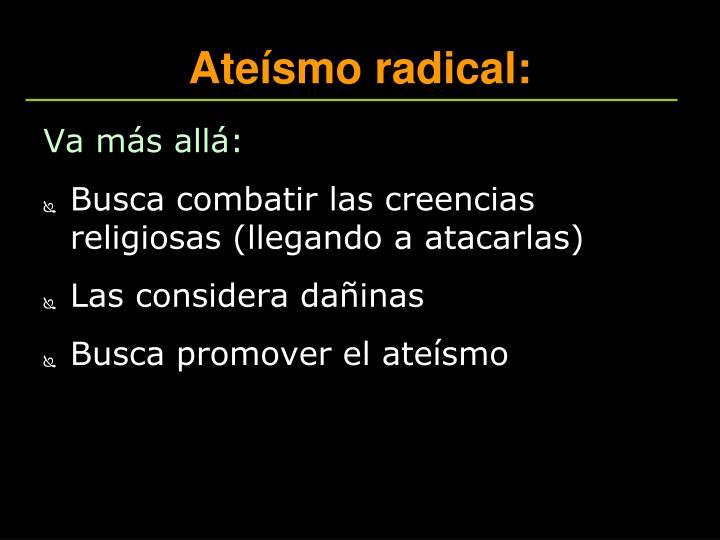 Ateísmo radical: