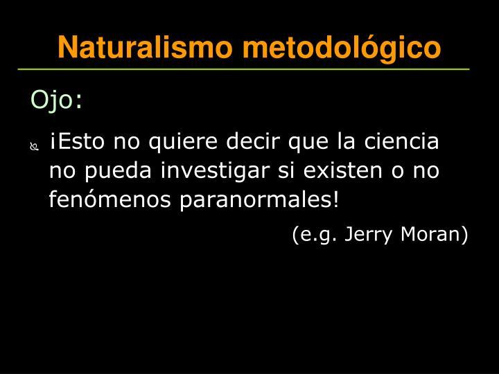 Naturalismo metodológico