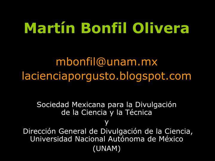 Martín Bonfil Olivera