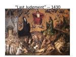 last judgment 1430