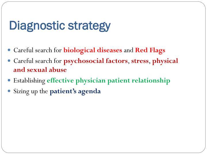 Diagnostic strategy