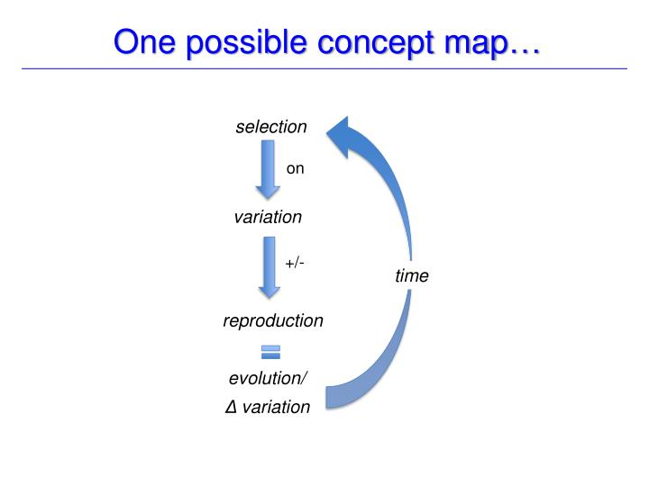 One possible concept map…