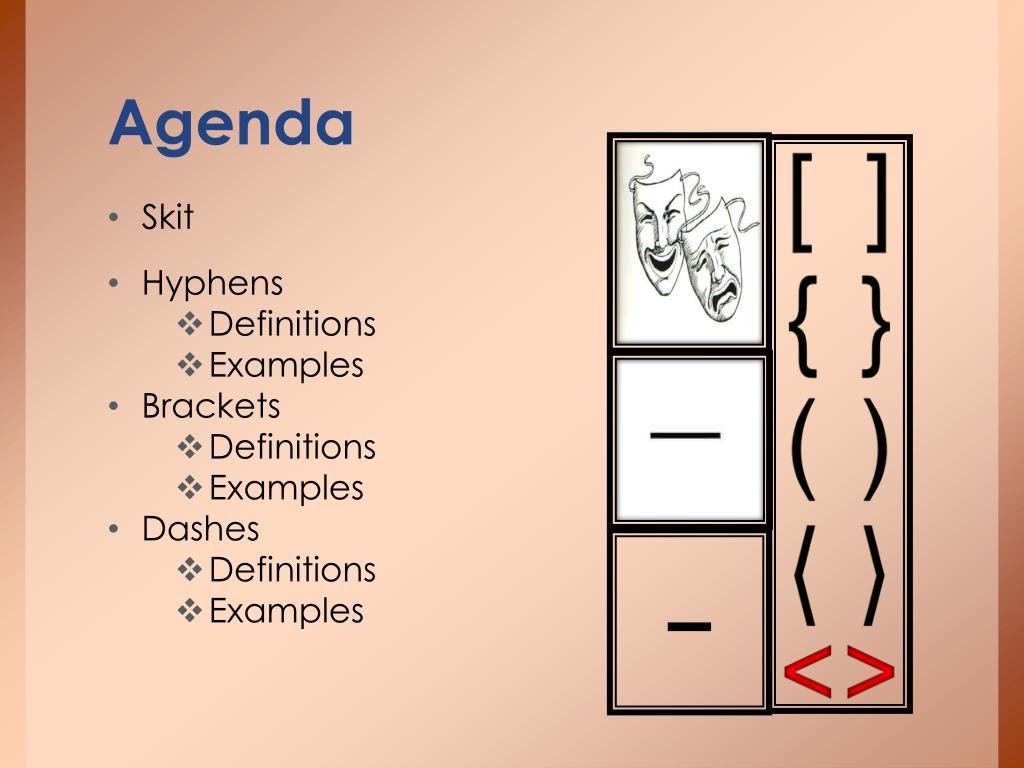 PPT - Hyphens, dashes, brackets PowerPoint Presentation - ID
