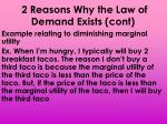 2 reasons why the law of demand exists cont