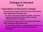 changes in demand t r i p e6