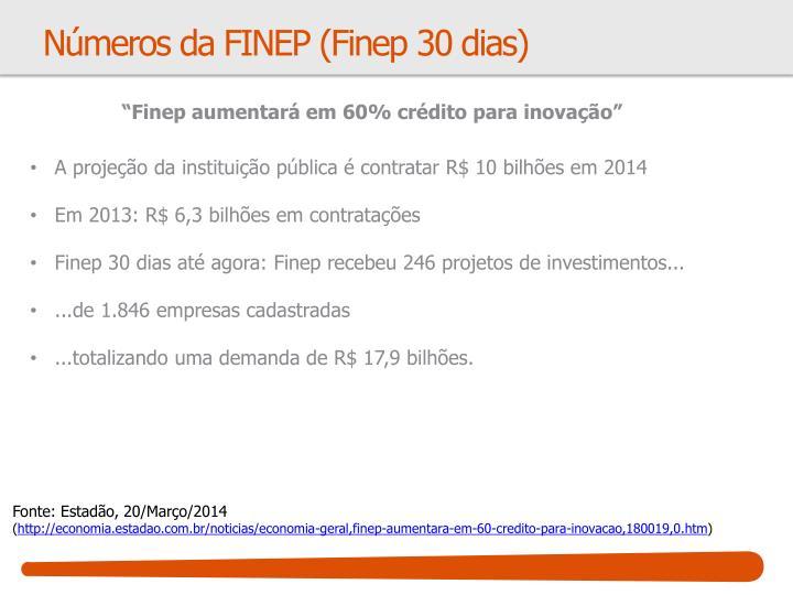 Números da FINEP