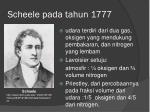scheele pada tahun 1777