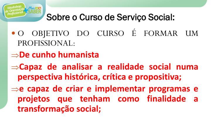 Sobre o curso de servi o social