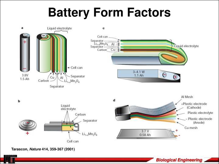 Battery Form Factors
