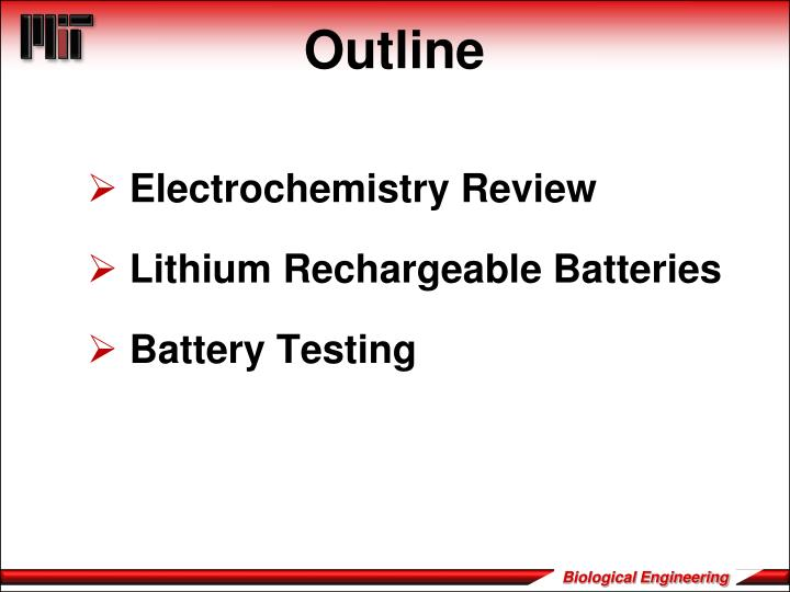 Electrochemistry Review