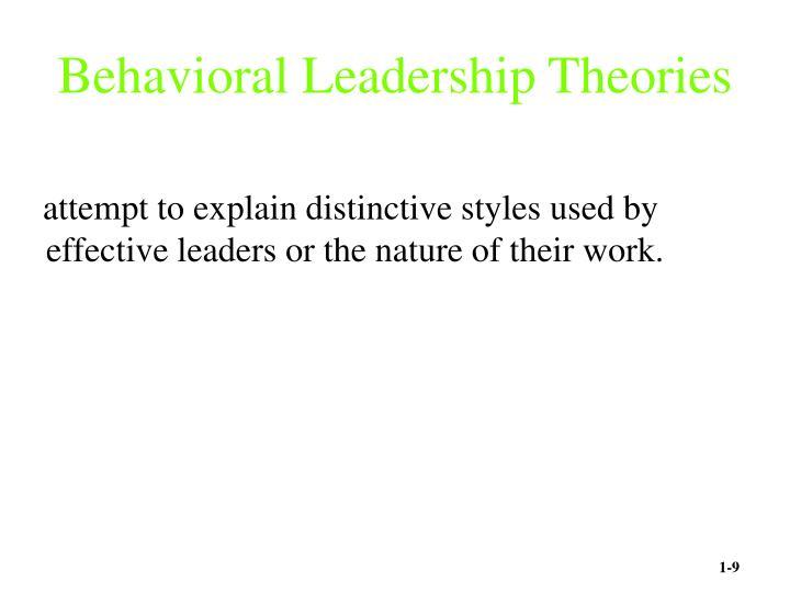 Behavioral Leadership Theories