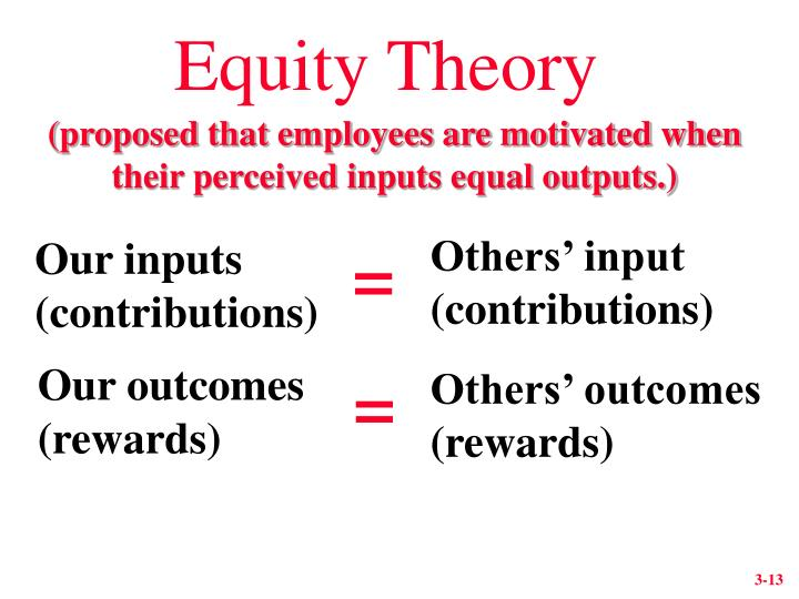 Equity Theory