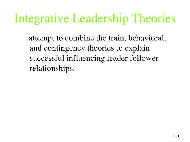 Integrative Leadership Theories