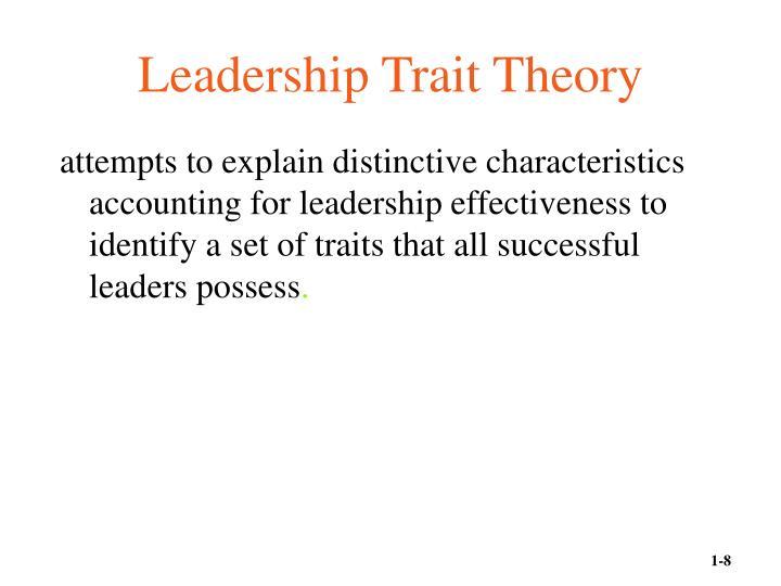 Leadership Trait Theory