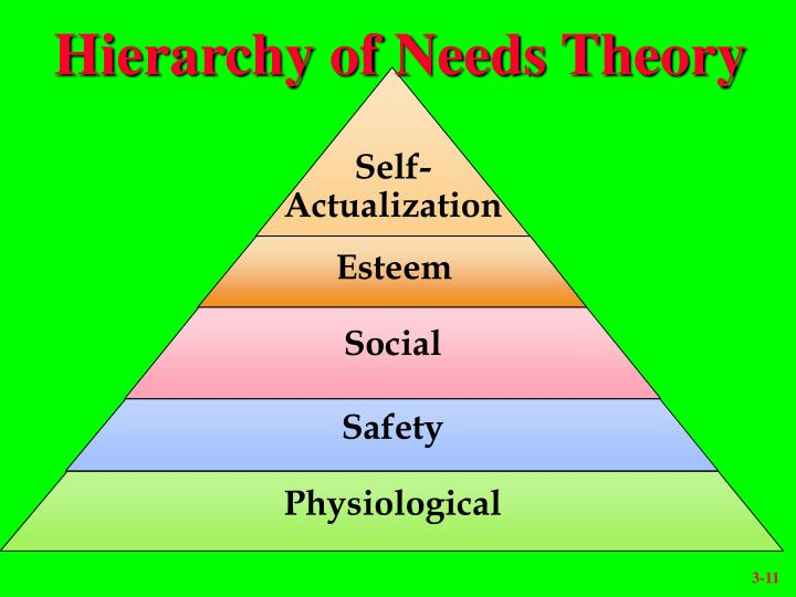 Hierarchy of Needs Theory
